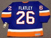 PAT FLATLEY New York Islanders 1993 Away CCM Vintage Throwback NHL Hockey Jersey - BACK