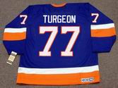 PIERRE TURGEON New York Islanders 1993 Away CCM Vintage Throwback Hockey Jersey - BACK