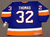 STEVE THOMAS New York Islanders 1993 Away CCM Vintage Throwback NHL Hockey Jersey - BACK