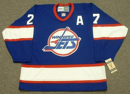 finest selection d2a04 4e3b3 TEPPO NUMMINEN Winnipeg Jets 1995 CCM Vintage Throwback Away NHL Hockey  Jersey