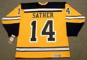 GLEN SATHER Boston Bruins 1966 CCM Vintage Throwback NHL Jersey