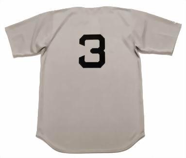 Babe Ruth 1929 New York Yankees Cooperstown Away Vintage Throwback Baseball Jersey - BACK