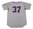 CASEY STENGEL New York Mets 1962 Away Majestic Baseball Throwback Jersey - BACK