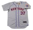 CASEY STENGEL New York Mets 1962 Away Majestic Baseball Throwback Jersey - FRONT