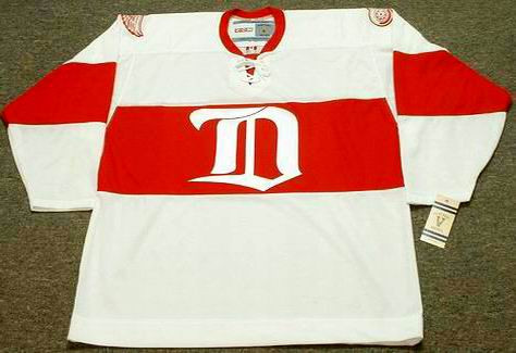 1920's Detroit CCM Throwback Vintage CHRIS CHELIOS Red Wings Jersey - FRONT