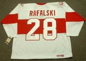 1920's Detroit CCM Throwback Vintage BRIAN RAFALSKI Red Wings Jersey - BACK