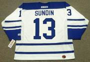 MATS SUNDIN Toronto Maple Leafs 2002 CCM Throwback NHL Hockey Jersey