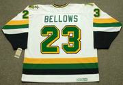 BRIAN BELLOWS Minnesota North Stars Jersey 1991 Home CCM Vintage Throwback NHL - BACK