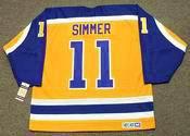 CHARLIE SIMMER Los Angeles Kings 1980 CCM Vintage Throwback NHL Hockey Jersey