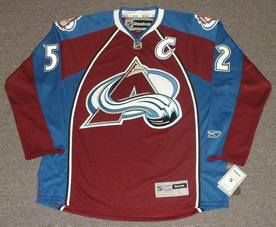 premium selection 64e91 8e42e ADAM FOOTE Colorado Avalanche 2009 Home REEBOK Throwback NHL Hockey Jersey