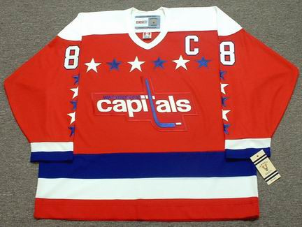 Alexander Ovechkin 1990s Washington Capitals NHL Throwback Home Jersey - FRONT