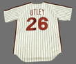 CHASE UTLEY Philadelphia Phillies 1980's Majestic Cooperstown Throwback Home Baseball Jersey - Back