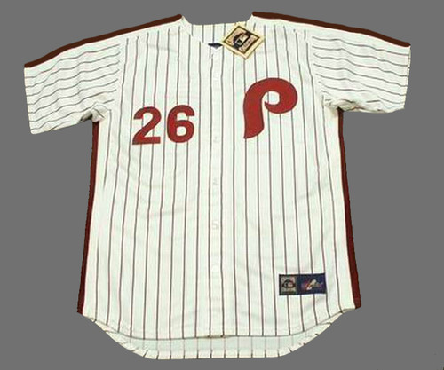 low priced bf721 a512b CHASE UTLEY Philadelphia Phillies 1980's Majestic Cooperstown Throwback  Home Baseball Jersey