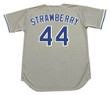 DARRYL STRAWBERRY Los Angeles Dodgers 1991 Away Majestic Baseball Throwback Jersey - Back