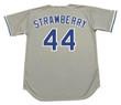 DARRYL STRAWBERRY Los Angeles Dodgers 1991 Away Majestic Baseball Throwback Jersey - Back