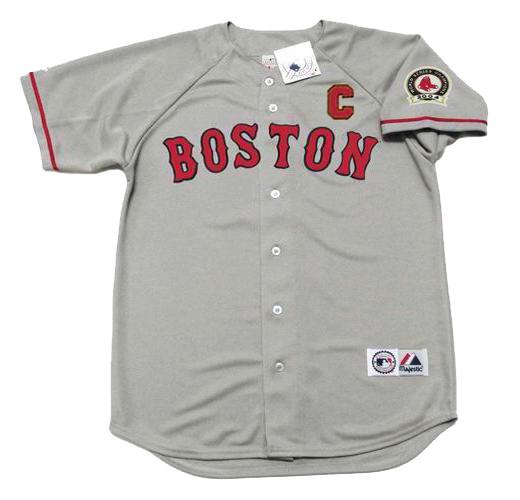 new style d7409 a57ed JASON VARITEK Boston Red Sox 2004 Majestic Throwback Away Baseball Jersey