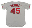 PEDRO MARTINEZ Boston Red Sox 2004 Away Majestic Baseball Throwback Jersey - Back