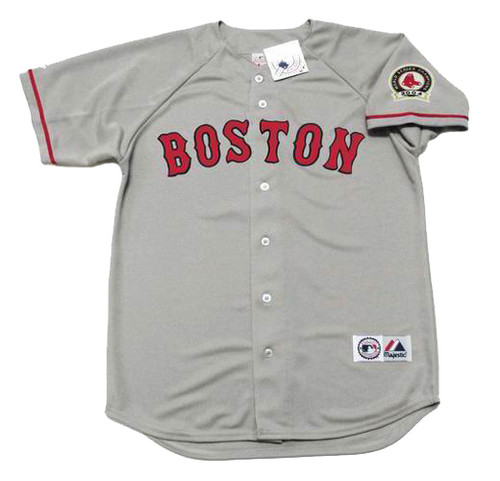 PEDRO MARTINEZ Boston Red Sox 2004 Away Majestic Baseball Throwback Jersey - Front