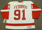 SERGEI FEDOROV Detroit Red Wings 2002 Home CCM Throwback NHL Hockey Jersey - BACK