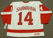 2002 Home CCM Throwback BRENDAN SHANAHAN Red Wings Jersey - BACK