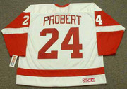 1993 Home CCM Throwback BOB PROBERT Detroit Red Wings Jersey - BACK
