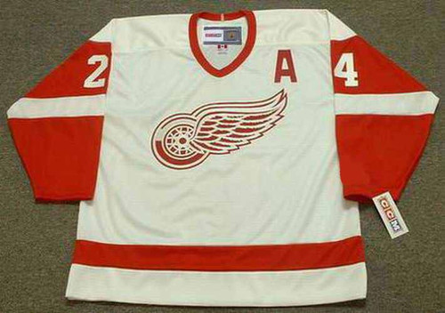 1993 Home CCM Throwback BOB PROBERT Detroit Red Wings Jersey - FRONT