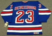 JEFF BEUKEBOOM New York Rangers 1990's CCM Vintage Throwback NHL Hockey Jersey