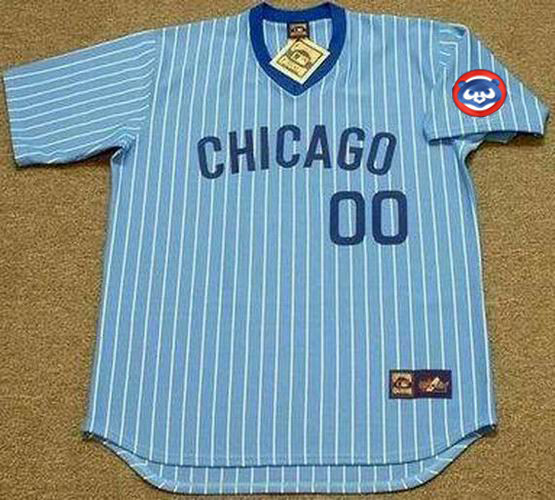 CHICAGO CUBS 1980 s Majestic Cooperstown Away Jersey Customized