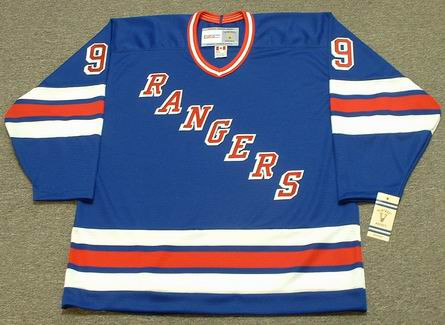WAYNE GRETZKY New York Rangers 1997 Away CCM NHL Vintage Throwback Jersey - FRONT