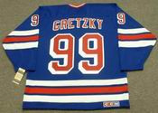 WAYNE GRETZKY New York Rangers 1997 Away CCM NHL Vintage Throwback Jersey - BACK