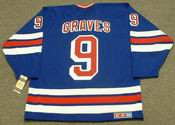 1996 New York Rangers Away CCM Throwback ADAM GRAVES Retro hockey jersey - BACK