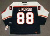ERIC LINDROS Philadelphia Flyers 1998 CCM Throwback NHL Hockey Jersey - BACK