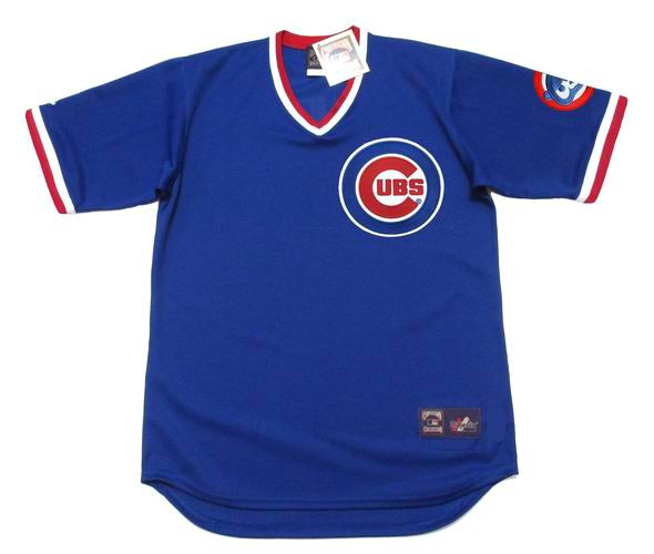 promo code 4837a 61107 CHICAGO CUBS 1984 Majestic Cooperstown Throwback Away Baseball Jersey
