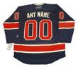 NEW YORK RANGERS Reebok 2012 Throwback Customized Jersey - Back
