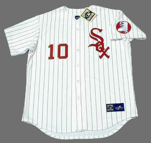 huge discount 70f26 466de RON SANTO Chicago White Sox 1974 Majestic Throwback Baseball Jersey