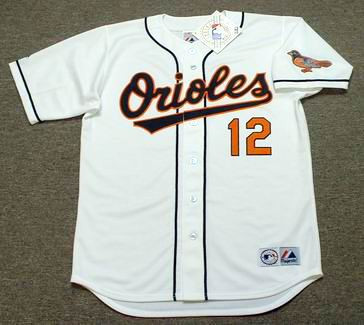 55a2a386e27 ROBERTO ALOMAR Baltimore Orioles 1996 Majestic Throwback Baseball Jersey -  Custom Throwback Jerseys