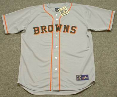 EDDIE GAEDEL St. Louis Browns 1951 Majestic Baseball Throwback Jersey - FRONT
