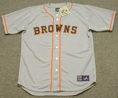EDDIE GAEDEL St. Louis Browns 1951 Majestic Baseball Throwback Jersey - FRONT