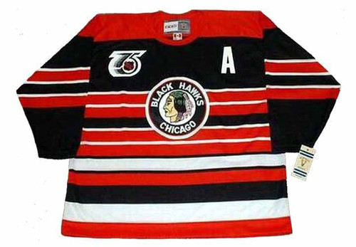 CHRIS CHELIOS Chicago Blackhawks 1992 CCM Vintage Throwback NHL Hockey Jersey - FRONT