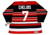 CHRIS CHELIOS Chicago Blackhawks 1992 CCM Vintage Throwback NHL Hockey Jersey - BACK