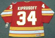 MIIKKA KIPRUSOFF Calgary Flames 1989 CCM Vintage Throwback Away NHL Hockey Jersey