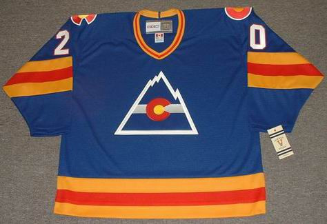 9ff4e369e ... MIKE GILLIS Colorado Rockies 1979 CCM Vintage Throwback NHL Hockey  Jersey. Image 1