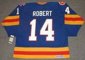 RENE ROBERT Colorado Rockies 1980 CCM Vintage Throwback NHL Hockey Jersey