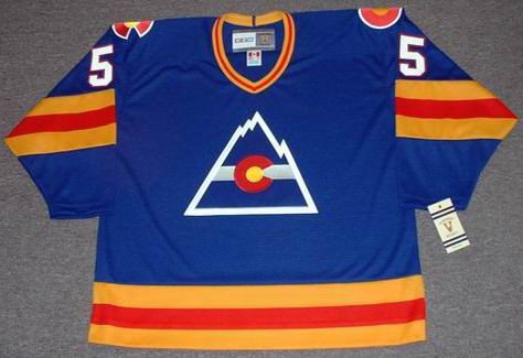 BARRY BECK Colorado Rockies 1978 CCM Vintage Throwback NHL Hockey Jersey - FRONT