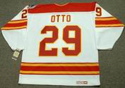 JOEL OTTO Calgary Flames 1989 CCM Vintage Throwback Home NHL Hockey Jersey