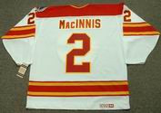 Al MacInnis 1989 Calgary Flames NHL Throwback Home Jersey - BACK