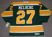 GILLES MELOCHE California Golden Seals 1972 CCM NHL Vintage Throwback Jersey - BACK