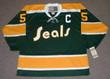 CAROL VADNAIS California Golden Seals 1971 CCM Vintage Throwback NHL Jersey - FRONT