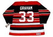 DIRK GRAHAM Chicago Blackhawks 1992 CCM Vintage Throwback NHL Hockey Jersey - BACK