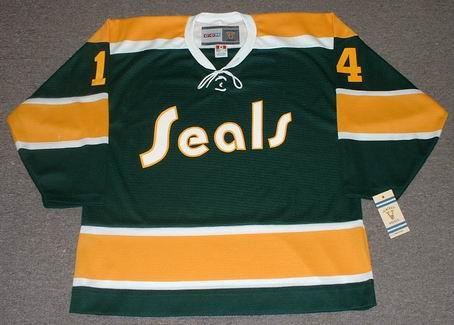 Craig Patrick 1972 California Golden Seals Vintage NHL Throwback Hockey Jersey - FRONT